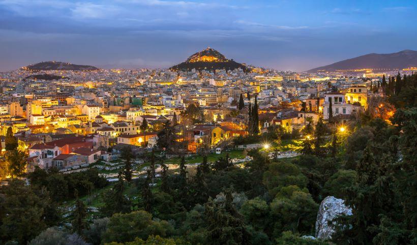 Афины в вечернее время