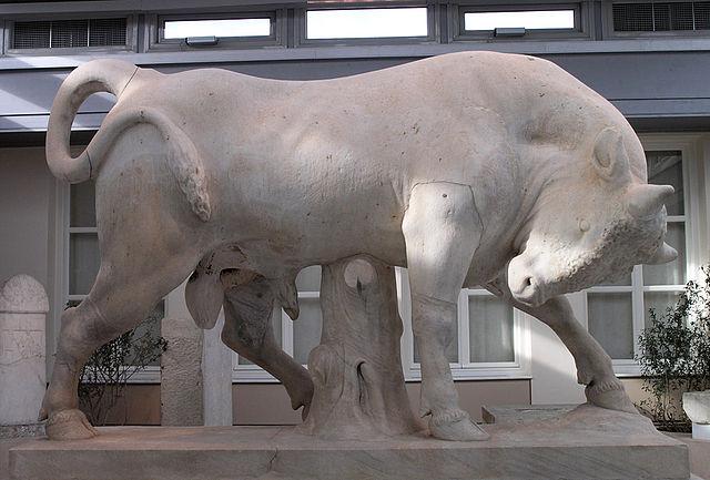 Скульптура Быка Дионисия, сына Альфина