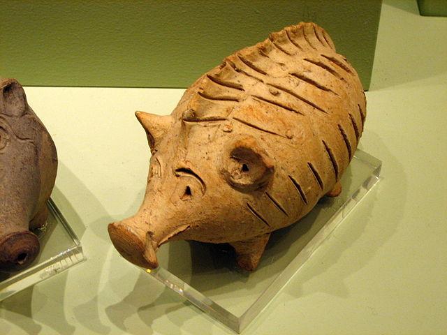 Погремушка в форме животного, Кипр II периода (600-480 до н.э.)